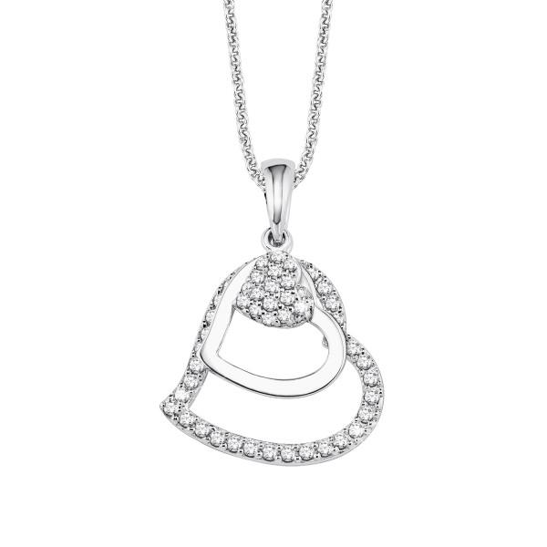 Damen Halskette mit dreier Herz und Zirkonia von s.Oliver