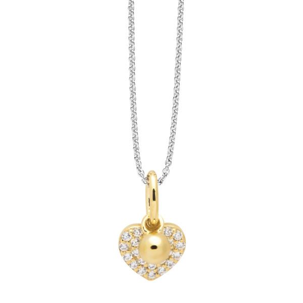 Halskette mit gefülltem Herz Anhänger goldfarben - Nana Kay