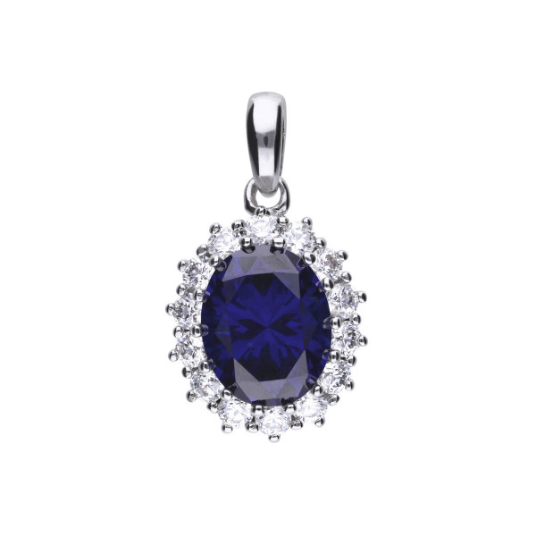 Anhänger Silber Zirkonia blau weiss Diamonfire ROYAL