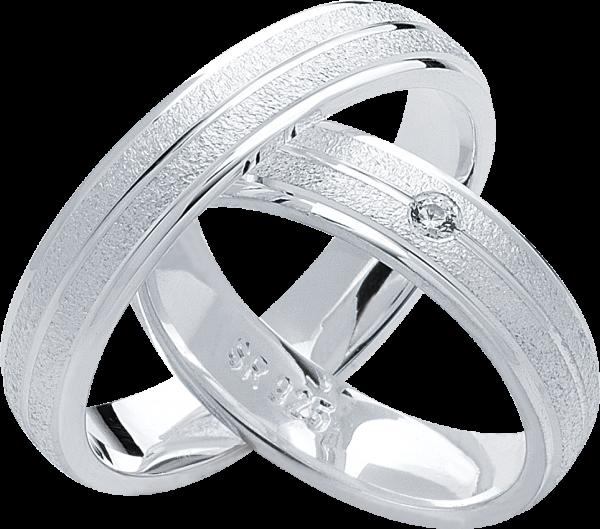Freundschaftsringe 925 Silber mit Zirkonia S22