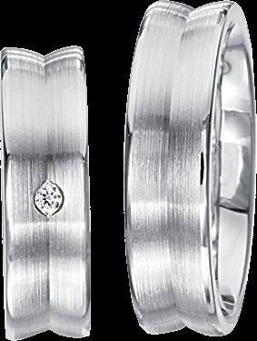 Freundschaftsringe 925 Silber mit echten Brillanten S35
