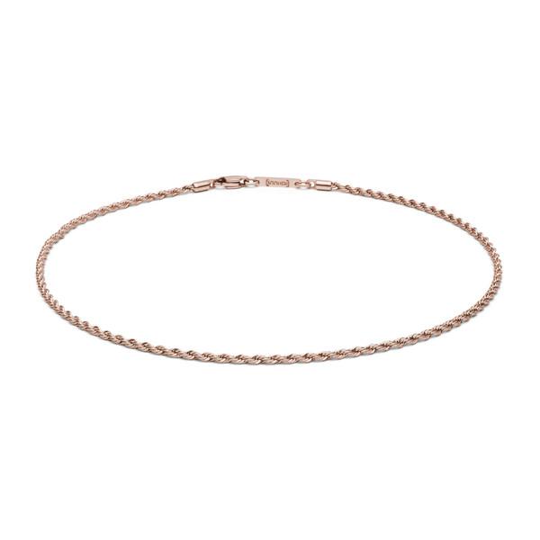 Halskette aus Edelstahl Kordel rosegold von MONOMANIA