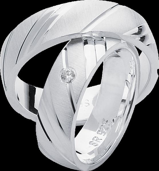 Freundschaftsringe 925 Silber mit Zirkonia S15