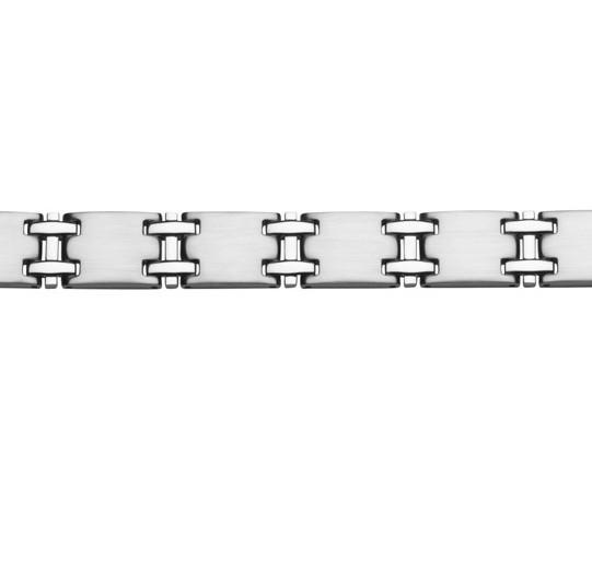 Herren Armband Edelstahl matt poliert gravierbar SW-499 STEELWEAR