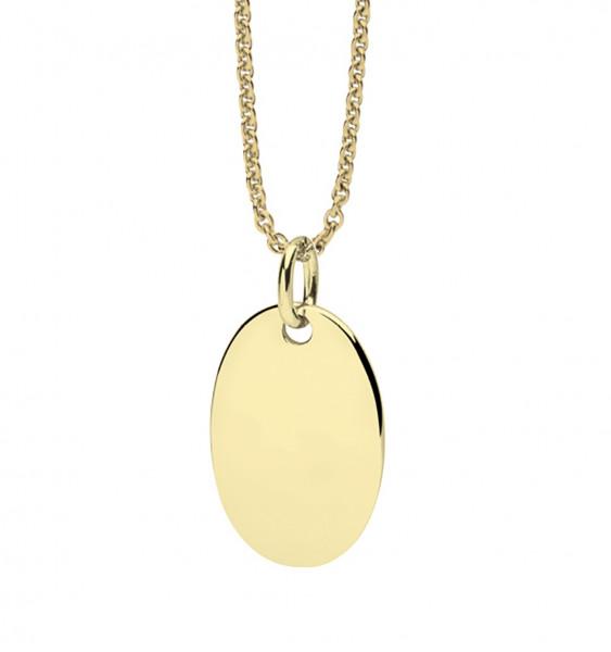 Halskette mit Ovalem Anhänger vergoldet - Nana Kay