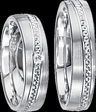 Freundschaftsringe 925 Silber mit echten Brillanten S34