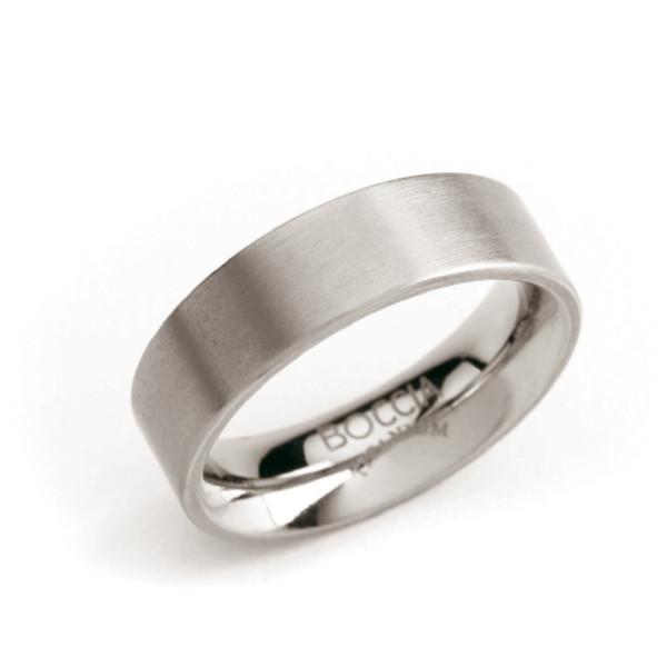 Titan Ring matt gerade Form 6 mm von BOCCIA Titanium