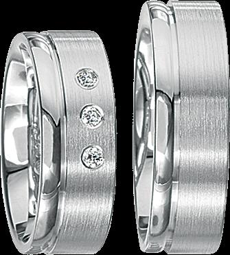 Freundschaftsringe 925 Silber mit echten Brillanten S42