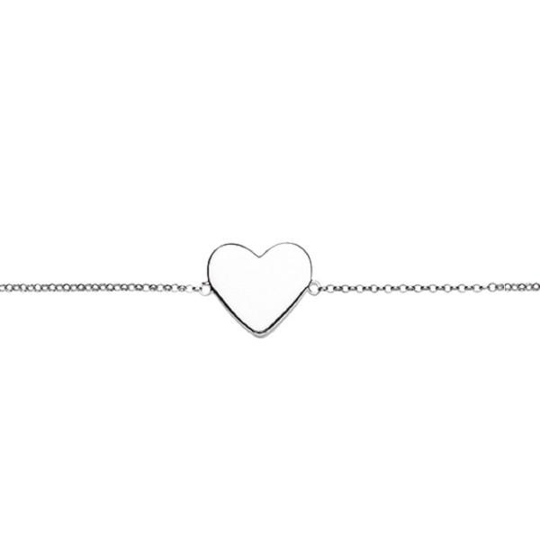 Armband zum gravieren Herz 925 Silber von Nana Kay