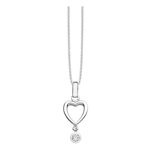 Halskette mit Anhänger Herz und gefasstem Zirkonia - Nana Kay