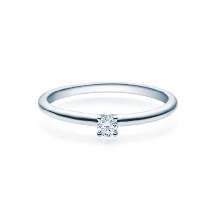 Verlobungsring 925 Silber rhod. 0,08 ct. Brillant
