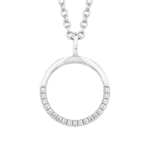 Halskette halbbesetzter Kreis mit Zirkonia von s.Oliver