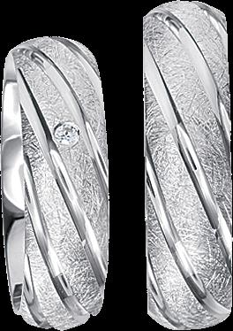 Freundschaftsringe 925 Silber mit echten Brillanten S48