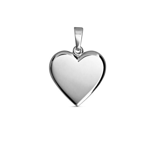 Gravur Anhänger Herz 925 Silber glänzend poliert Gravurplatte 15,3 x 15,4 mm