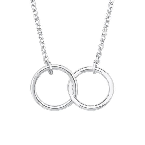Damen Halskette mit Anhänger Ringe Silber s.Oliver