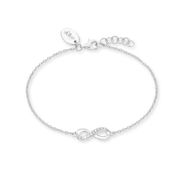 Damenarmband Undendlichkeitszeichen Silber mit Zirkonia s.Oliver