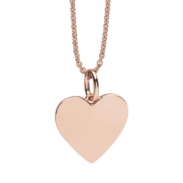 Halskette rosegoldenes Herz gravierbar - Nana Kay