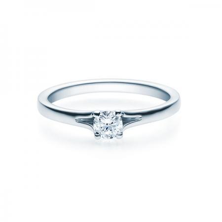 Verlobungsring Jill 585 Weißgold - 0,25 Karat Brillant in 4-Krappenfassung