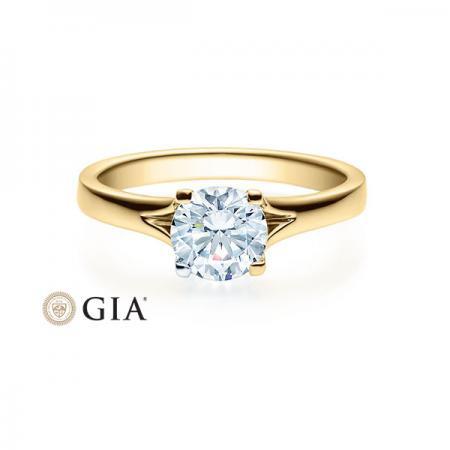 Verlobungsring Jill 585 Gold - 1,0 Karat Brillant in 4-Krappenfassung