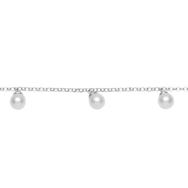 Armkette mit Perlen Silber