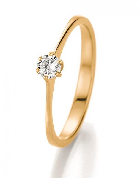 Verlobungsring 585 Gelbgold 0,20 ct. Brillant