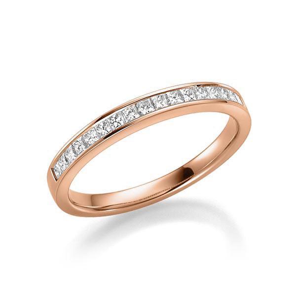Memoirering 750 Rosegold - Diamanten gesamt 0,38 Karat