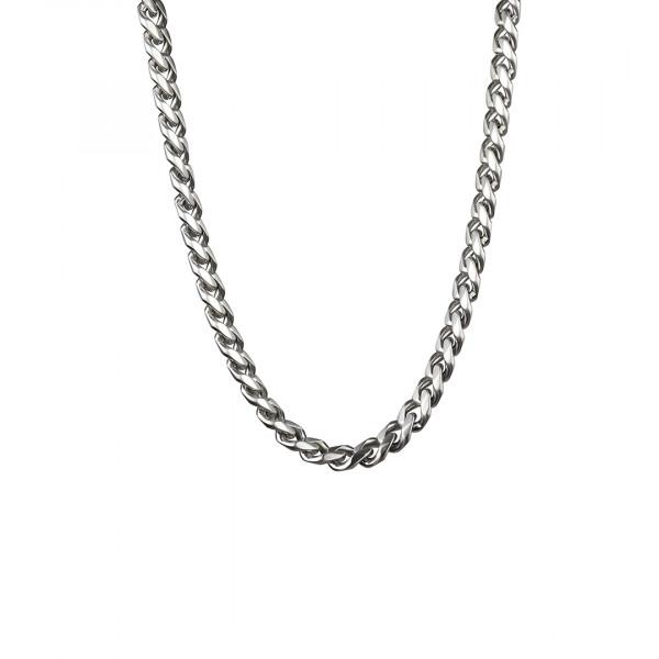 Herren Halskette Edelstahl Glieder 12,7 mm breit - silberfarben