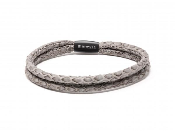 Armschmuck doppeltes Schlangenband grau - Monessa