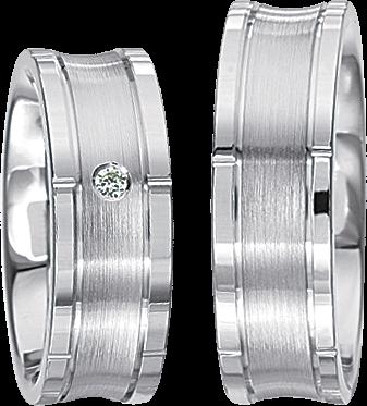 Freundschaftsringe 925 Silber mit echten Brillanten S50