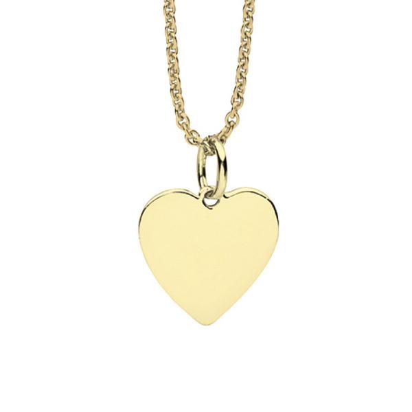Halskette vergoldetes Herz gravierbar - Nana Kay