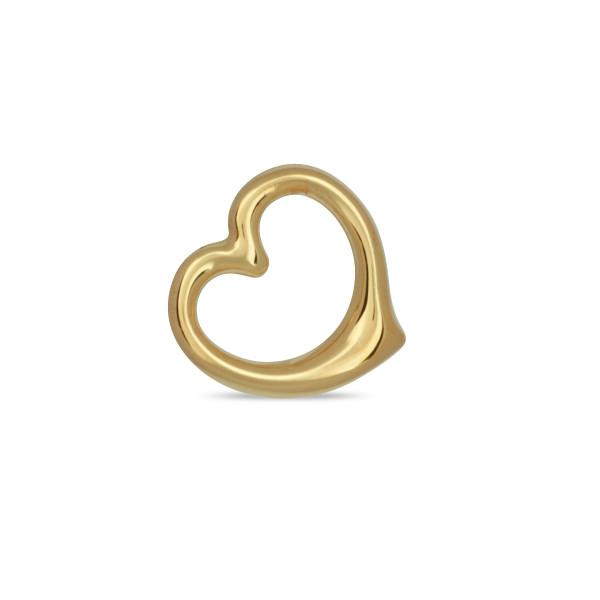 Anhänger 333 Gold Herz poliert geschwungen 12,3 x 12,5 mm