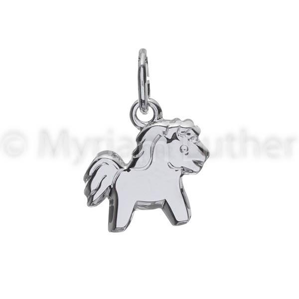 Kinder Anhaenger Pferd Pony 925 Silber rhodiniert