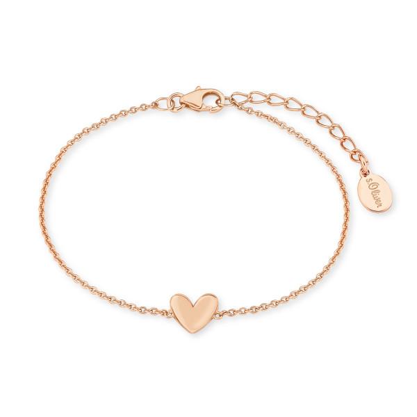 Damen Armband Herz rosegold vergoldet s.Oliver