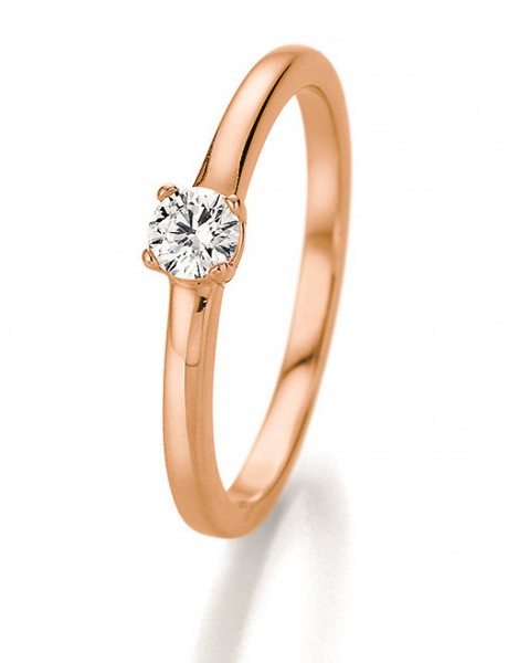 Verlobungsring 585 Rosegold 0,25 ct. Brillant