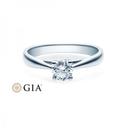 Verlobungsring 585 Weißgold 0,50 ct. Brillant