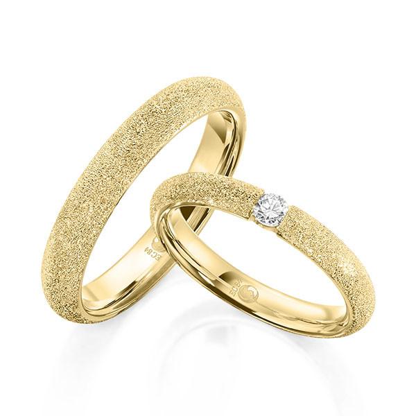 Trauringe 585 Gelbgold Eheringe Hochzeitsringe RU-1610-3-585GG