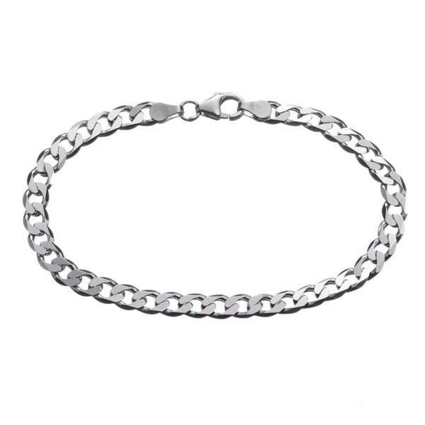 Silberarmband 925 Silber Panzerkette ca. 5,2 x 1,2 mm stark