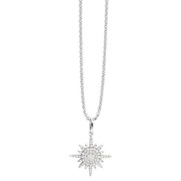 Silver Trends Anhänger SIlber Stern Stars mit Zirkonia Steinen