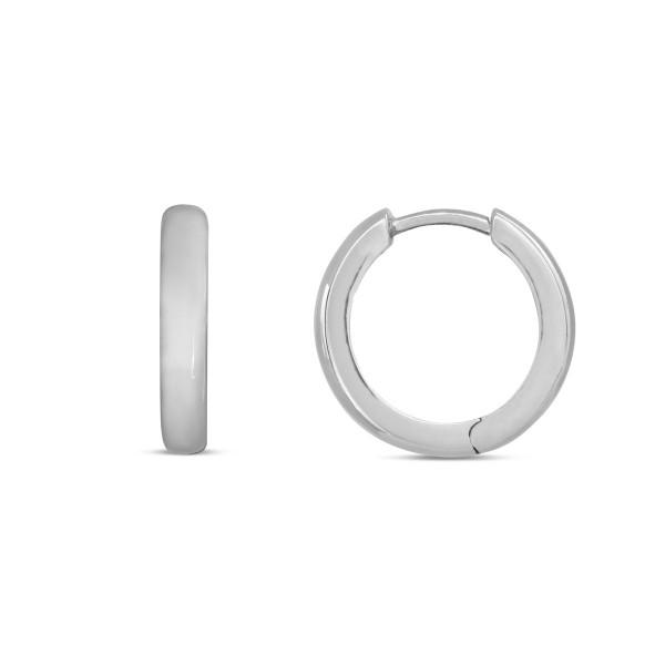 Creolen 925 Silber poliert 14,5 x 2,9 mm breit