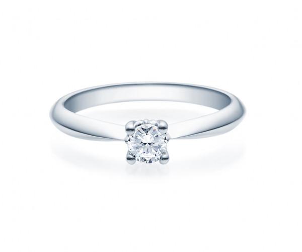 Verlobungsring Viertelkaräter Brillant 585 Weissgold