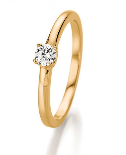 Verlobungsring 585 Gold - 0,25 Karat Brillant in 4-Krappenfassung