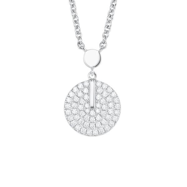 Halskette mit Kreis Anhänger Zirkonia von s.Oliver