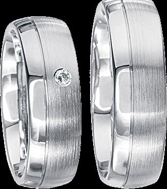 Freundschaftsringe 925 Silber mit echten Brillanten S36