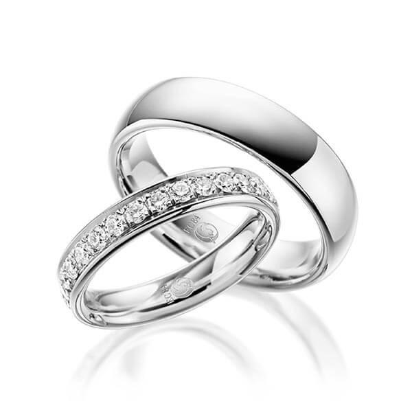 Trauringe 333 Weissgold Eheringe Hochzeitsringe