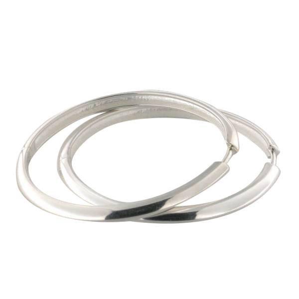 Creolen 925 Silber mit einem Durchmesser von 38 mm