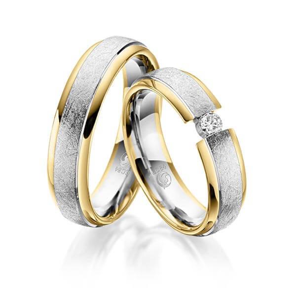 Trauringe 585 Gold 600 PLATIN Eheringe Hochzeitsringe Spannring