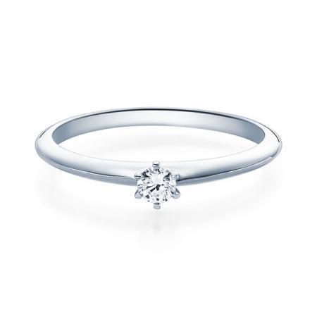 Verlobungsring Daphne 950 Platin ges. 0,1 ct. Brillanten