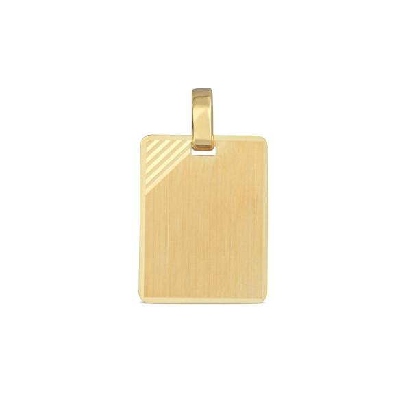Anhänger 333 Gold rechteck 12,7 x 16,2 mm - gravierbar