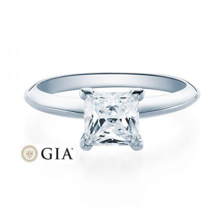 Verlobungsring Glenn 750 Weissgold ges. 1 ct. Brillanten