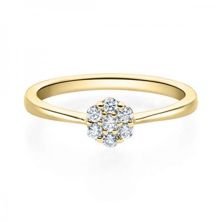 Verlobungsring Hazel 750 Gelbgold ges. 0,15 ct. Brillanten